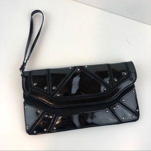 Zara Black studded clutch